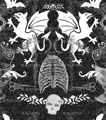 ghoulish damask