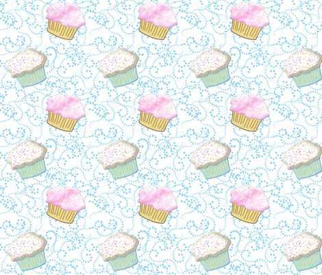 cupcake rumba white fabric by ajr51594 on Spoonflower - custom fabric