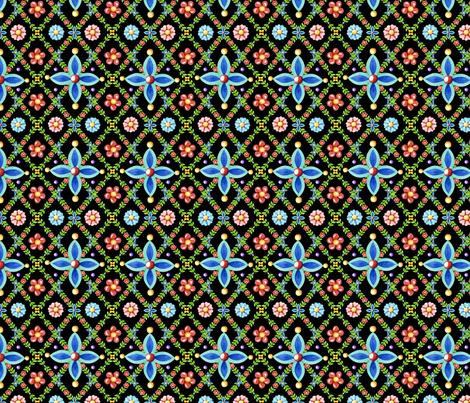 Millefiori Heraldic Lattice fabric by patriciasheadesigns on Spoonflower - custom fabric