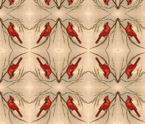 Cardinal fabric fabric by vagabond on Spoonflower - custom fabric