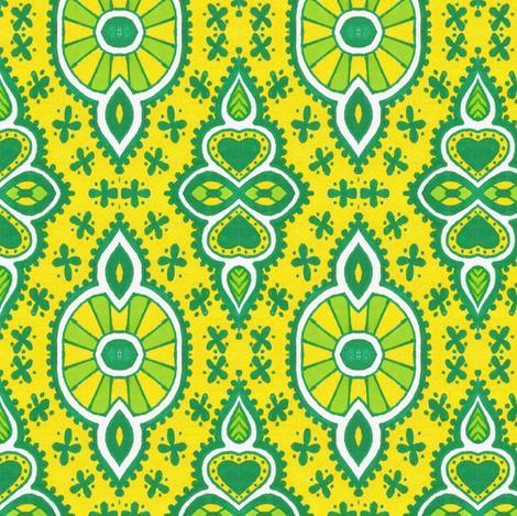 Fancy Lemons fabric by siya on Spoonflower - custom fabric
