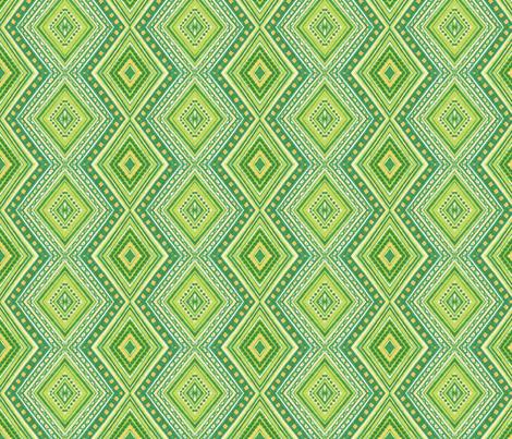 Kiwi Diamonds fabric by siya on Spoonflower - custom fabric