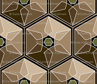geometric earth tones