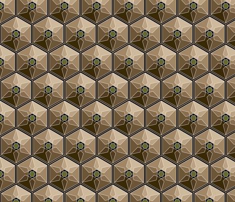geometric earth tones fabric by hannafate on Spoonflower - custom fabric