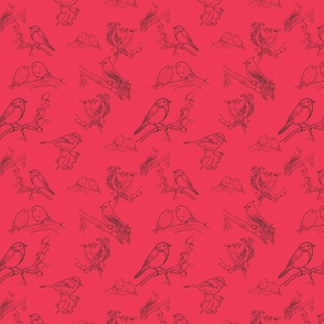 Bird Toile (Red)