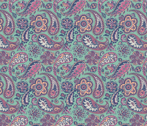 Paper Paisley fabric by teja_jamilla on Spoonflower - custom fabric