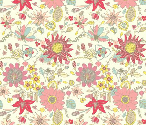 Varied Floral  fabric by teja_jamilla on Spoonflower - custom fabric