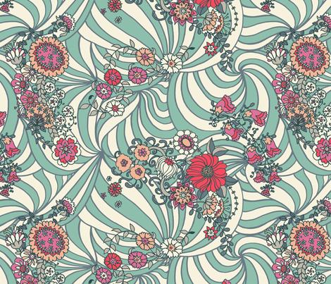 Tribal Flowers  fabric by teja_jamilla on Spoonflower - custom fabric