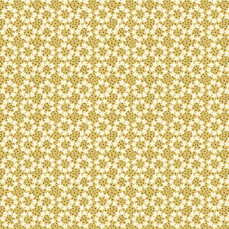 Ring_of_Flowers_gold fabric by stacyiesthsu on Spoonflower - custom fabric