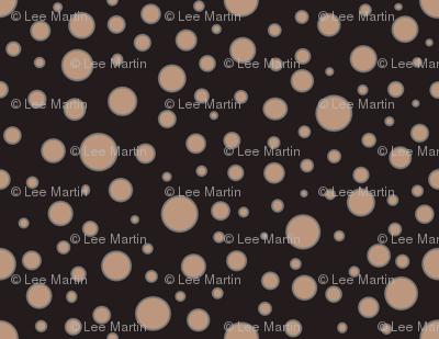 Dots - Tan Dots on Dark Grey