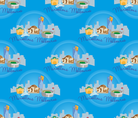 Marvellous Melbourne fabric by sarah_mawer on Spoonflower - custom fabric