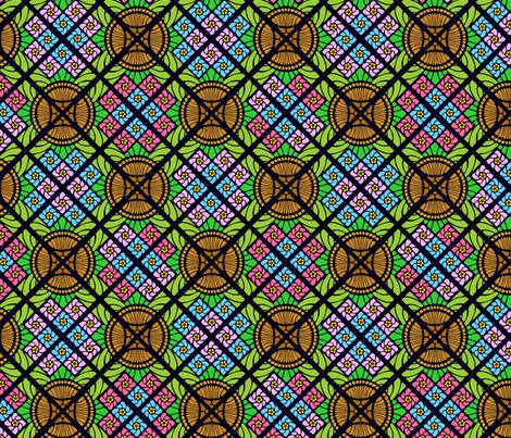 art deco flower basket fabric by hannafate on Spoonflower - custom fabric