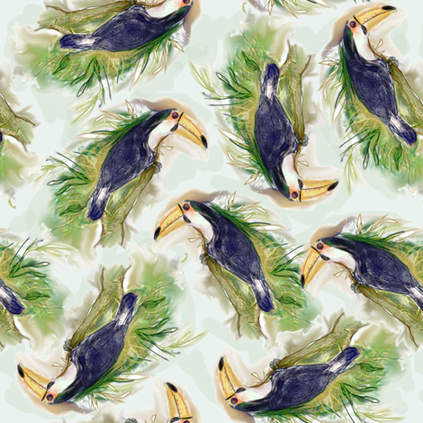 Toucan Tangle fabric by eclectic_house on Spoonflower - custom fabric