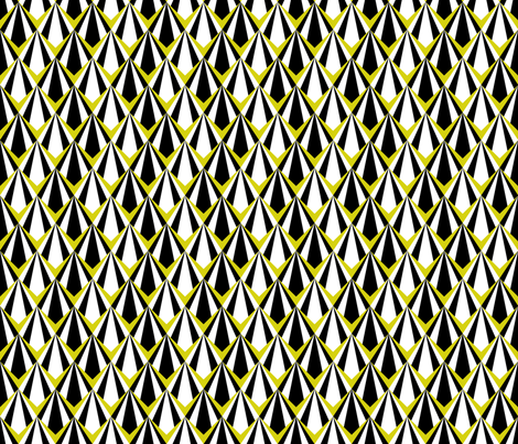 Deco Geometric Yellow Medium fabric by modgeek on Spoonflower - custom fabric