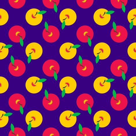 Whole Apples (Small) fabric by nekineko on Spoonflower - custom fabric