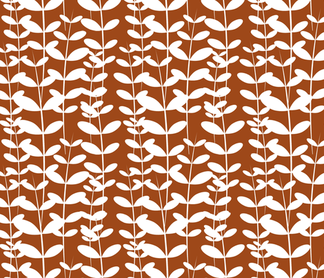 Annatto Weed fabric by m0dm0m on Spoonflower - custom fabric