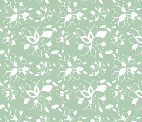 Robin Bloom fabric by m0dm0m on Spoonflower - custom fabric