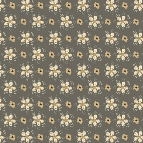5 Petal Flowers 110/104/92 fabric by petals_fair_(peggy_brown) on Spoonflower - custom fabric