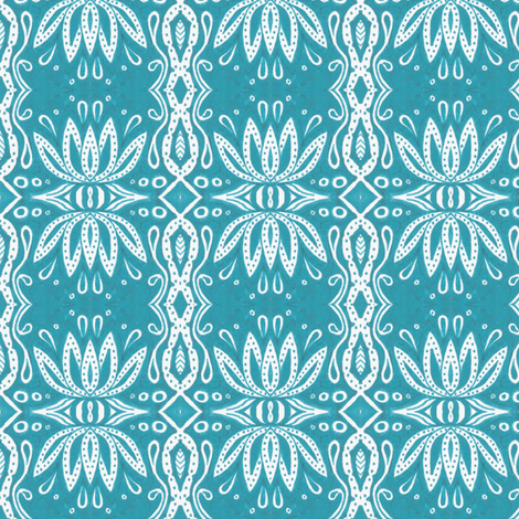 Quiet Lotus fabric by siya on Spoonflower - custom fabric