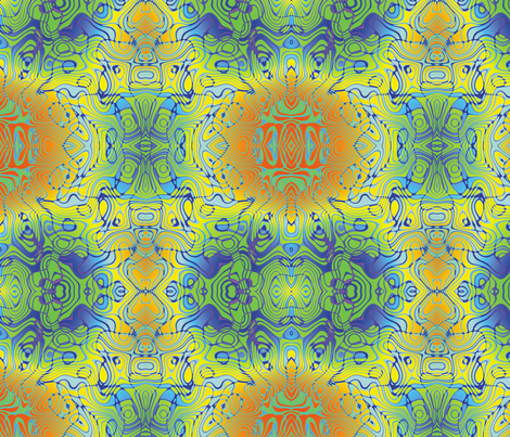 Blue Graffiti, L fabric by animotaxis on Spoonflower - custom fabric