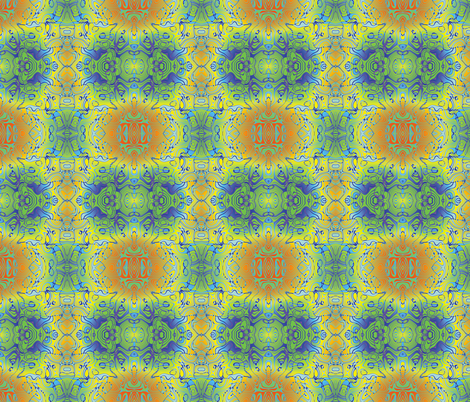 Blue Graffiti, S fabric by animotaxis on Spoonflower - custom fabric