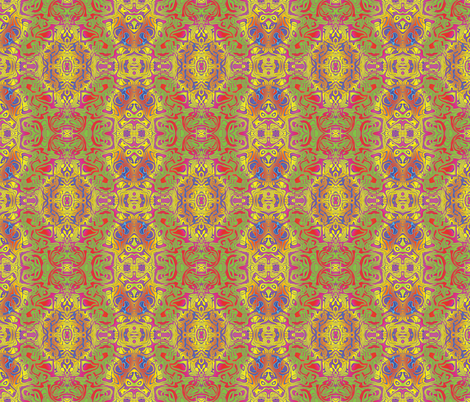 Red Graffiti, S fabric by animotaxis on Spoonflower - custom fabric