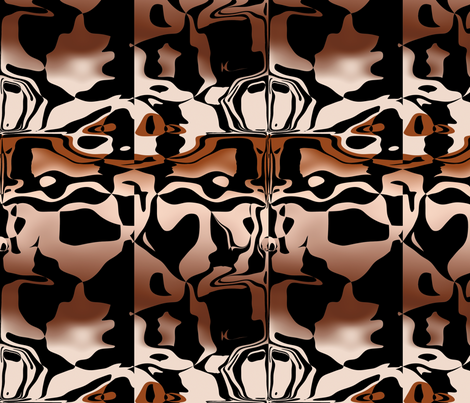 Copper Graffiti, L fabric by animotaxis on Spoonflower - custom fabric
