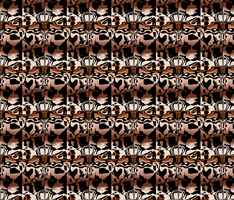 Copper Graphiti, S fabric by animotaxis on Spoonflower - custom fabric