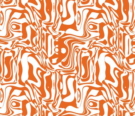 Orange Graffiti, L fabric by animotaxis on Spoonflower - custom fabric