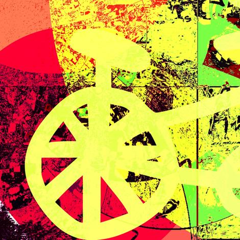 Amsterdam's bike fabric by _vandecraats on Spoonflower - custom fabric