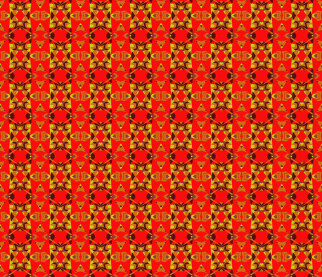 Crowded_red fabric by loska on Spoonflower - custom fabric