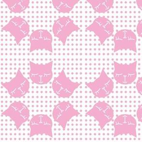 6Gattini Pois All Pink