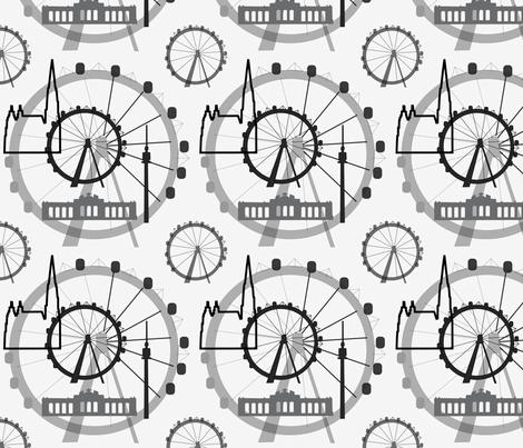 viennacityline fabric by lilliblomma on Spoonflower - custom fabric
