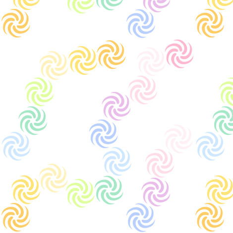 Rainbow Pastels - Swirls -  © PinkSodaPop 4ComputerHeaven.com fabric by pinksodapop on Spoonflower - custom fabric