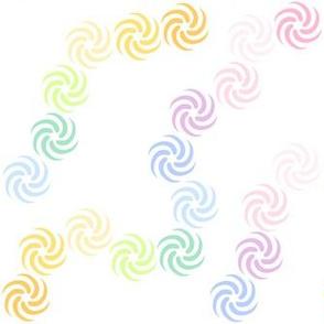 Rainbow Pastels - Swirls -  © PinkSodaPop 4ComputerHeaven.com