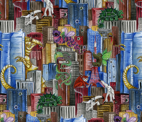 Oh No, Tokyo!!! fabric by ceanirminger on Spoonflower - custom fabric