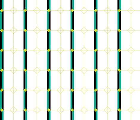 Deco Geometric Stripe fabric by modgeek on Spoonflower - custom fabric