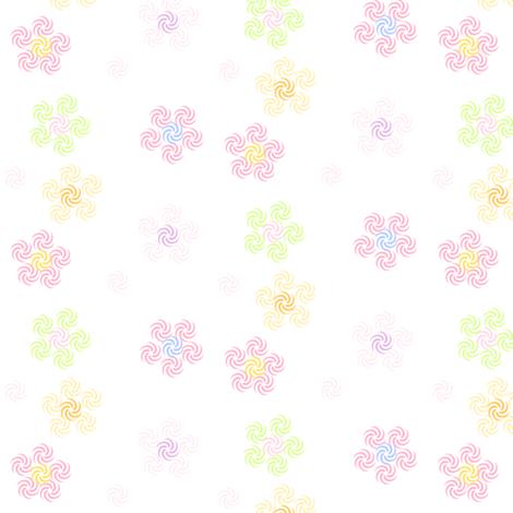 Rainbow Pastels - Swirl Flowers (Pink S) -  © PinkSodaPop 4ComputerHeaven.com fabric by pinksodapop on Spoonflower - custom fabric