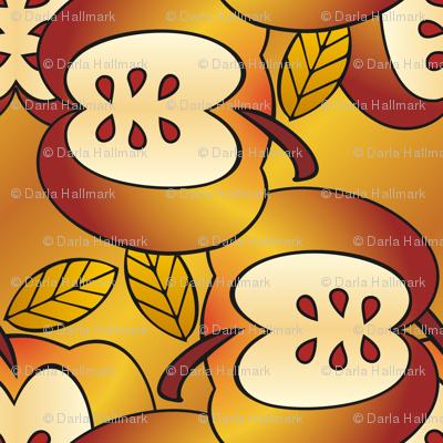 Gigantic golden apples