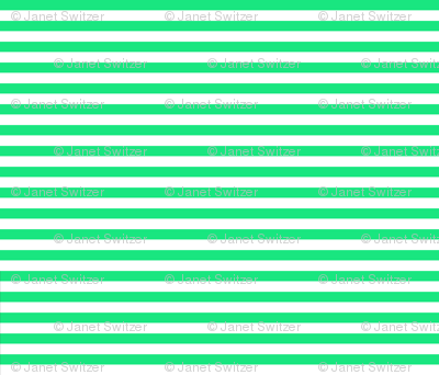 horizontal green and white stripe half inch