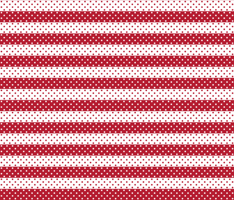 dotted stripes red fabric by georgeandgracie on Spoonflower - custom fabric