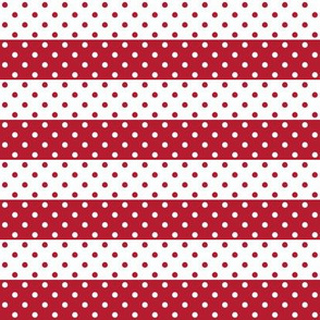 dotted stripes red