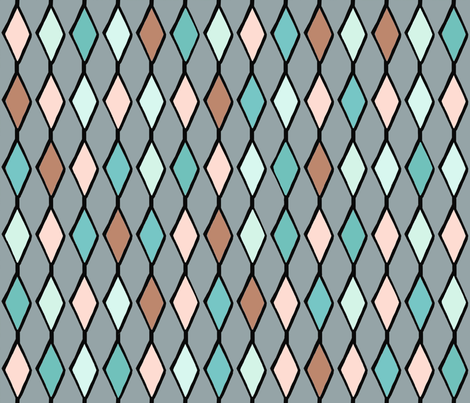 Lips to the sea 8 fabric by lucybaribeau on Spoonflower - custom fabric
