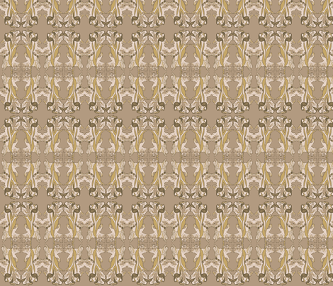 Subtle Nouveau fabric by whimzwhirled on Spoonflower - custom fabric