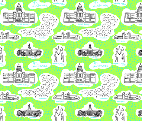 Denver! fabric by cleverviolet on Spoonflower - custom fabric