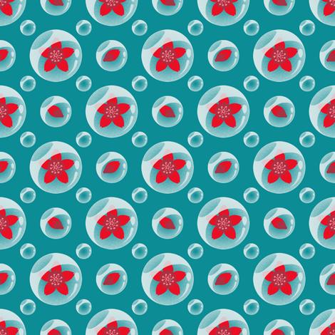 Akazakura Hailstone fabric by siya on Spoonflower - custom fabric