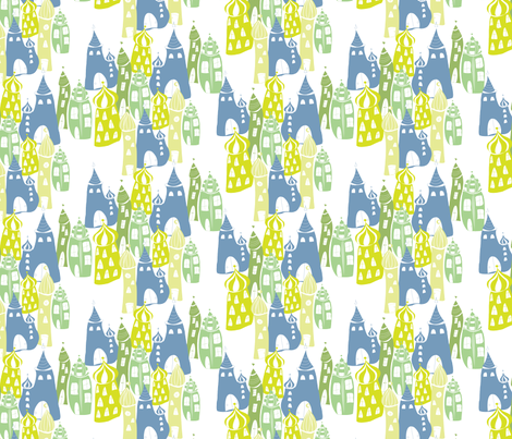 Cityscape_Baghdad_CW3 fabric by blueberry_ash on Spoonflower - custom fabric