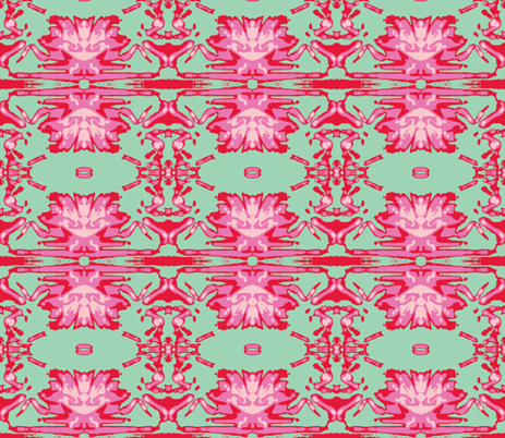 Deco Orleander in four colors fabric by susaninparis on Spoonflower - custom fabric