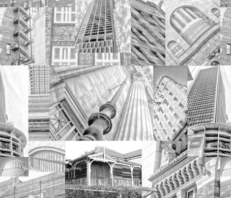 Brisbane_monotone fabric by wiccked on Spoonflower - custom fabric