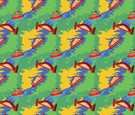 Sydney_the_Harbour_City fabric by paloma_le_sage on Spoonflower - custom fabric